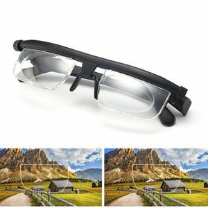 Sight için Unisex Okuma Gözlüğü büyüteci Gözlük Miyop Presbiyopi Optik Gözlük + 3 Gözlükler için Odak Uzunluğu -6 ayarlayın