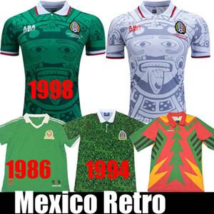 1998 MEXIQUE RETRO BLANCO Hernandez Blanco maillots de football Campos uniformes ACCUEIL gardien 1994 Football Jersey chemise 1986 camiseta futbol