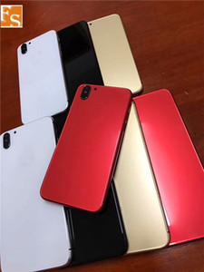 iPhone için 2020 Sıcak satış Logo Yan Keys ile 6 6 Plus 6S Artı Arka Konut gibi iPhone X Stil Pil Kapı Siyah Kırmızı Metal Cam Arka Kapak