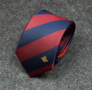 Small Bee Embroidery Tie Personality Color Matching High-end Tie Outdoor Men's and Women's Designer Tie Free Shipping