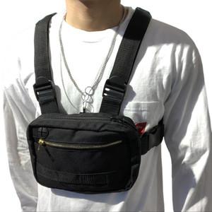 Männer Hip-Hop Brusttasche Außen Oxford Tactical Street Weste Chest Rig Taschen Frauen Funktionsweste Brusttasche G108 T191210