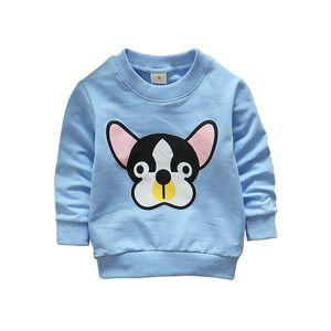 2019 New Spring Autumn Children Boy Girl Hoodies Sweatshirts Cartoon Dogs Long Sleeve Cotton Crew Neck Sweatshirts Blouse