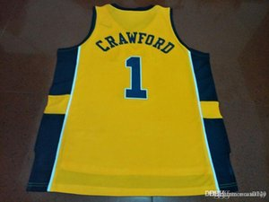 Cheap Men #1 Jamal Crawford Michigan Wolverines College jersey Size S-4XL or custom any name or number jersey