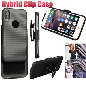 Clip belt phone case titular kickstand pc hybird 2 em 1 casos de volta para o iphone xs max xr 7 8 plus