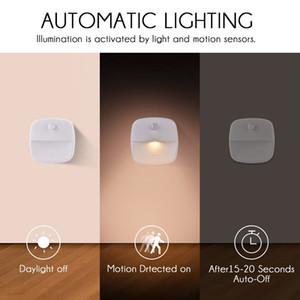 اقتراح الاستشعار الصمام الخفيفة ليلة للنوم الأطفال غرفة ممر خزانة الذكي أضواء الذكية مصباح الجدار لينة الخفيفة للسيارات قبالة 2PCS / حزمة