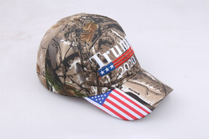 New American Presidential President Trump Camouflage Baseball Cap Trump 2020 Hat Embroidery Print Baseball Cap HH9-2167
