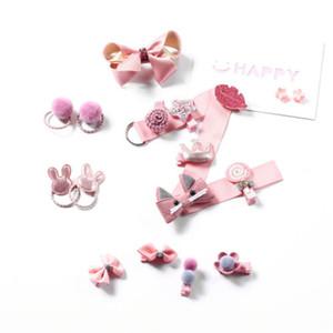 Marca 18pcs de dibujos animados / bebés fijados clips arcos del pelo de Hairwear Princesa Boutique del regalo de la cabeza