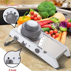 Verstellbarer Gemüse-Kartoffel-Allesschneider-Spiral-Edelstahl-Küchen-Multifunktionswaren