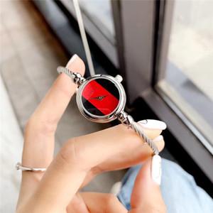 relojes de las mujeres de lujo del reloj del cuarzo del acero inoxidable del oro rosa pulsera de las mujeres reloj de lujo del diseñador vestido mira el envío libre