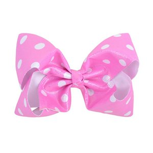 1 Piece Dot Striped Star Hair Bows Bright Color Hair Clip Kids Girls Boutique Hairgrips Handmade Barrettes Accessories