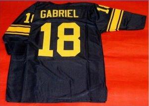 Homens Custom # 18 ROMAN GABRIEL tamanho personalizado 3/4 de faculdade Jersey s-5XL ou personalizado qualquer nome ou número de camisa