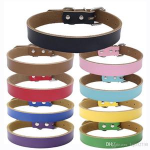 Atacado 9 cores 4 tamanhos High Grade Hot Pure Collar couro Pet couro real espessamento cão cadeia de tracção de corda Acessórios Dog A022
