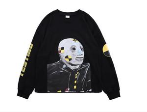 Tide Hoodies Male Female ASAP ROCKY Hoodies Black Oversize Hip Hop Crew Neck Sweatshirts Size S-XL