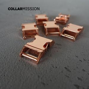 15mm pet yaka DIY Aksesuarları en kaliteli Çinko Alaşım Kaplama Metal toka CK15M için metal Kavisli Yan hızlı Yayın Toka