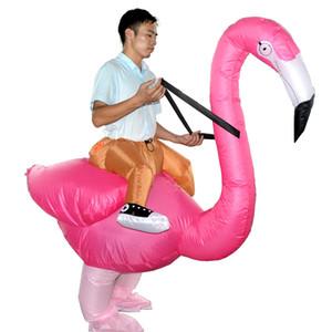 Halloween Costume De Noël Inflatables Flamingo Cosplay Dress Up Inflatables Partie Spoof Costumes Vêtements de performance livraison gratuite