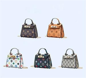 Kinder Handtaschen drucken Designer Baby Mini Geldbörse Umhängetaschen Teenager Kinder Mädchen Messenger Bags Kette Tasche Cute Princess Rechteck Tasche DHL FJ450