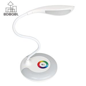 Bdbqbl 3 уровня Touch Rgb Base Защита глаз Ночная светодиодная настольная лампа Зарядка USB Зарядка для чтения книг Аккумуляторная C19041803