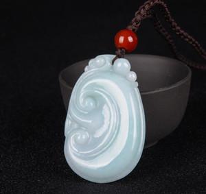 bienes naturales jadeíta de jade de cera ruyi colgante de los modelos de pareja masculina y femenina de jade calabaza colgante de jade de cadena suéter