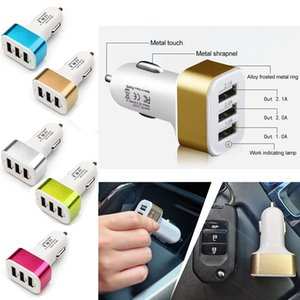 Car Charger 3 Port USB Universal Cigarette Charger Adapter Traver Adapter Car Plug for Apple iPhone X XS 8 plus iPad Samsung phone