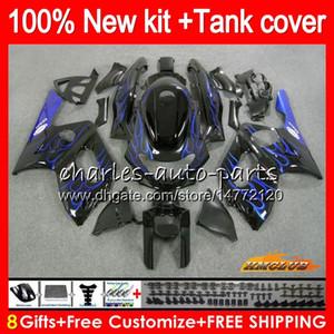 Thundercat para YAMAHA YZF YZF600R llamas azules 600R C 72HC.90 YZF600R 1996 1997 1998 1999 2000 2001 2002 2003 2004 2005 2006 2007 carenado