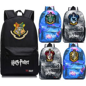 Ravenclaw Hogwarts Slytherin Gryffindor Boy Girl School Bag Mujeres Mochila Adolescentes Bolsos escolares Lona Hombres Estudiante Mochilas Y19061102