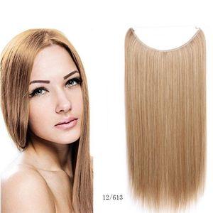Flip Livraison gratuite dans les cheveux de cheveux poisson auréole droite cachée d'extension de cheveux armure de fil invisible de cheveux: Pas de vidéo confortable et facile WEA