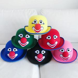 Красочные Клоун Hat взрослых Косплей Circus Clown партии шляпы Шапки одеваются Реквизит Карнавал Halloween Party Dress Decor