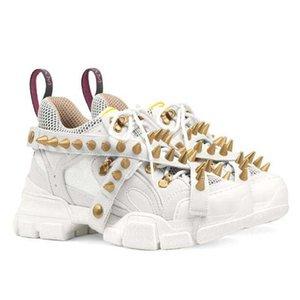 Spikes Flashtrek Sneaker mit Nieten Abnehmbare Spikes Herren Cowboy-Schuhe der beiläufigen Schuhe der Frauen Turnschuhe II7