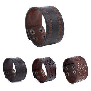 punk, bracelet cuir embossé motif large hommes moto bijoux bracelet rétro bouton pression guitare accessoires boyfriend cadeau