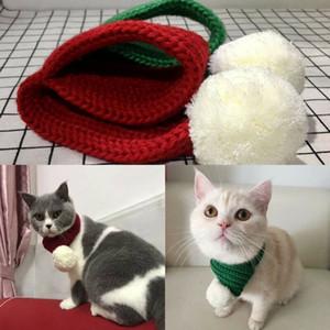 Quente Marca New Pet malha Inverno Pet Cat Dog malha Lenços Collar Scarf Decor Natal Lenço