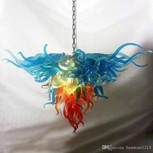 Vente chaude Art coloré décor fleur Italie Designer Fancy soufflé à la bouche en verre de Murano Lustre LED Modern Festival Pendant Light Fixtures