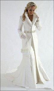 Щедрые длинные рукава свадебные пальто бисером блестки пояс формальная вечеринка плащ искусственный мех теплый Болеро / куртка выпускного вечера