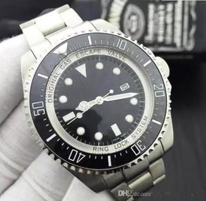 Venda Hot Men Watch Sea-Dweller Ceramic 44 milímetros moldura de aço inoxidável 116660 BLSO automático preto Ceramic Diver Mens Relógios de pulso