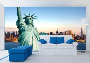 WDBH 3d wallpaper custom photo 자유의 여신상 뉴욕시 배경 거실 홈 데코레이션 벽 3 차원 벽 벽화 벽지 3 d