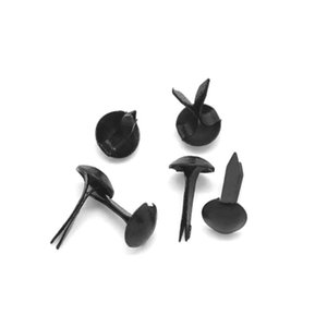"DoreenBeads Iron Based Alloy Pastel Brads Scrapbooking Embellishment for DIY Craft Supply Round Black 9x5mm(3 8""x2 8""), 500 PCs"