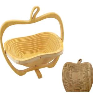 과일 보관 선반 대나무 바구니 랙 접이식 과일 바구니 저장 바구니 확장 축소 주방 용품 모양의