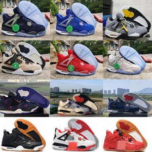 2020 Bred Red Retro Cat NakeskinJordan 4 4s basketball shoes men mens white sneakers IV Pure money trainers 40-46