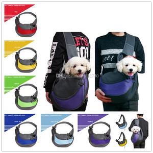 pet single shoulder bag, cat and dog traveling portable straddle bag, air permeable mesh, pet backpack, pet supplies A282