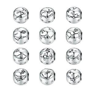 Avrupa Tarzı DIY Boncuklu bileklik Takı Aksesuarlar Yapımı Pandora Bilezikler Kolyeler 925 Gümüş Burcu Boncuk