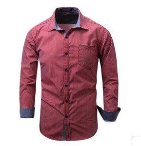 Men's Wear Slim Shirts Simple Fashion Long Sleeve Cotton Casual Shirts coats