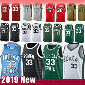Indiana Larry 33 Uccello Kareem Abdul-Jabbar Earvin Johnson College Basketball Jersey State University of Michigan liceo di San Giuseppe
