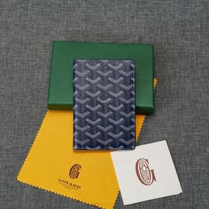 2020 Sıcak Hakiki Deri Yüksek Kaliteli Klasik Goyar pasaportunu kredi kartı sahibi Gy cüzdan kart paketi Kutu Ücretsiz Kargo En çok satan