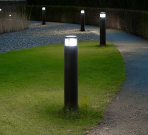 Открытый пейзаж Газон лампа LED Тумба свет водонепроницаемый Villa Garden Courtyard Стенд Pole Light Современный парк Community Post Lamp LLFA