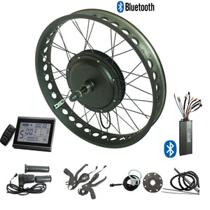 48V 500W Electric bike conversion kit fat tire ebike snow e bicycle kit 20'' 24'' 26'' X 4.0 inch LCD display & bluetooth electric bicycle