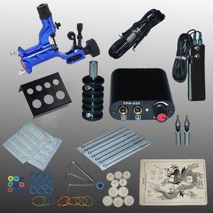 YILONG máquina de tatuaje Kits completos pistolas de tatuaje máquina de tatuaje fuente de alimentación negro aguja desechable 1100635-3kitA envío libre