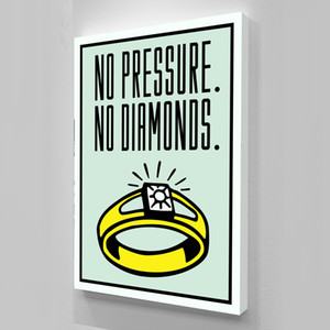 """Alec Monopoly """"No Pressure No Diamonds"""" Home Decor pintado à mão HD Imprimir pintura em tela Wall Art pintura a óleo cultura de escritório arte 200516"""