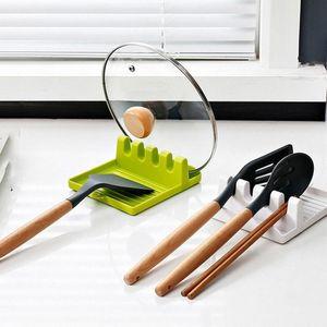 New Cooking Utensil Holder Non-slip Spoon Rack Chopsticks Spatula Stand Kitchen Storage Shelf Spoon Rack Kitchen Accessories