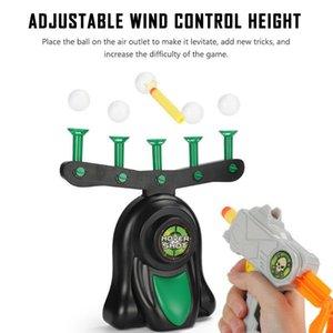 Электрические воздушный выстрел зависание шарик Смешного Плавающего Target Airshot игра пена Dart Blaster Стрельба мяч игрушка Kid подарок