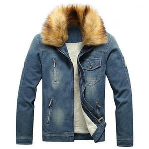 Giacchette Abbigliamento da esterno nuovo modo adolescenti cappotti di inverno 20ss Mens Designer Jean giacche casual Fleece Thick Denim