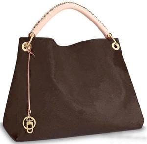 디자이너 가방 큰 가방은 명품 핸드백 초대형 예술 명품 가방 m40249 오래된 큰 꽃 진짜 가죽 핸드백 가방 특대 여자